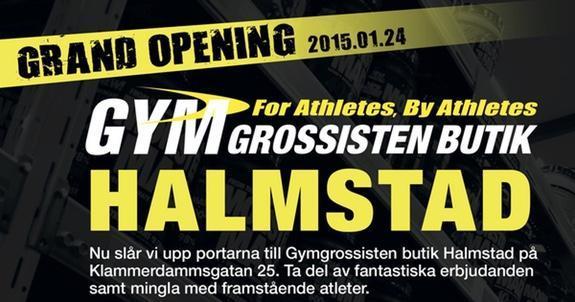 Ny Gymgrossistbutik i Halmstad