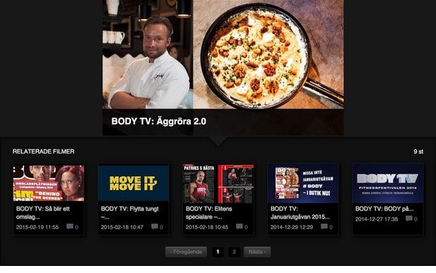 Ny filmhörna på webben: BODY TV