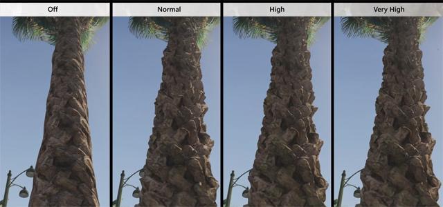 GTA V:s olika grafikinställningar