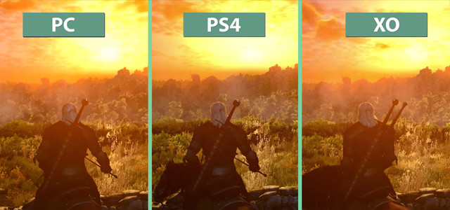Jämför The Witcher 3 på pc, Xbone och PS4