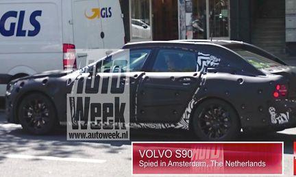 Volvo S90 fångad på bild för första gången