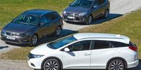 TEST: Ford Focus Kombi 1,6T, Honda Civic Tourer och Seat Leon ST TSI