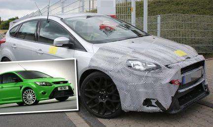 Spion: Ford Focus RS ska äta Volkswagen Golf R till frukost