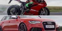 Kan superhojen från Ducati slå Audi RS 6 runt banan?