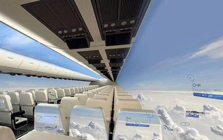 Sänkta kostnader med flygplan utan fönster